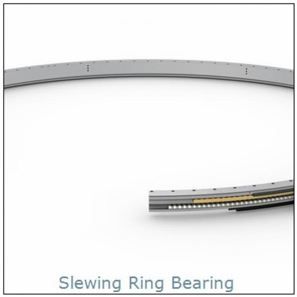 Combination cylindrical roller /ball  slewing bearing with external gear  Stacker and reclaimer unloader slewing bearing ring #1 image